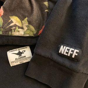 DISNEY collab w/NEFF ALADDIN floral sweatshirt